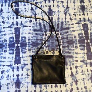 EUC Black Leather Crossbody by Margot